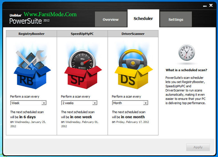 uniblue power suite 2012 screenshots