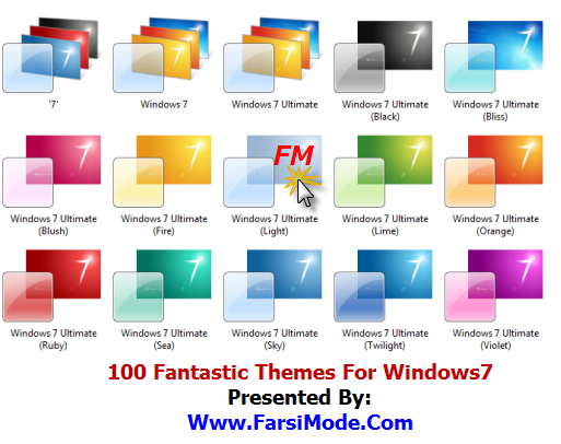 100 Themes For Windows7 FarsiMode0 دانلود مجموعه 100 تم ویندوز 7 Themes For Windows